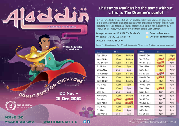 KEITH McLEISH & EILIDH WEIR – Aladdin